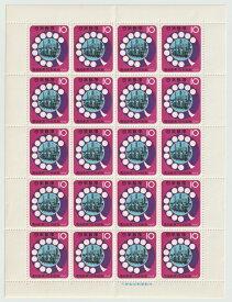 【切手シート】電話創業75年記念 20面シート 10円 昭和40年(1965)