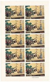 【切手シート】古典芸能シリーズ 歌舞伎 勧進帳 50円10面シート 昭和45年(1970)