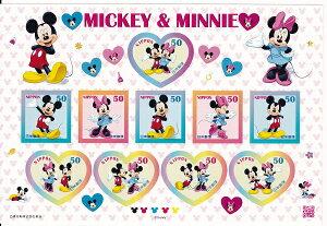 【シール式切手シート】ミッキー&ミニー 50円10面シート