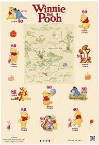 【シール式切手シート】グリーディング「ディズニーキャラクター」くまのプーさん 80円10面シート 平成25年(2013)