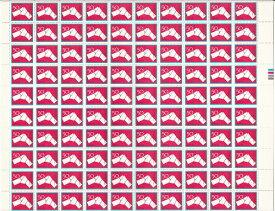 【切手シート】ふみの日 結び文 50円100面シート 昭和55年(1980)