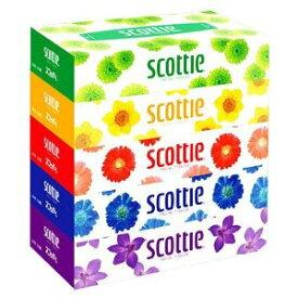 送料無料♪スコッティ ティシュー フラワーボックス 5箱パック (1箱に1パック5個入りが12パック入り)