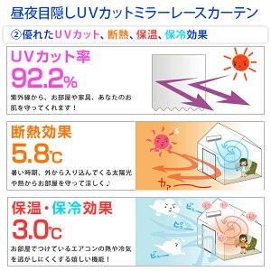 特殊加工の完全遮光生地使用カーテン「Shizuka」×昼夜目隠しミラーレースカーテンセット2枚セット静1枚レース1枚