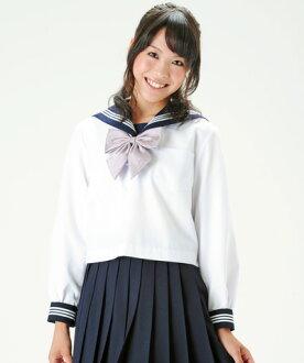 KR8181 白色水手上衣长袖  蓝色衣领 155A~175A KURI-ORI的原创