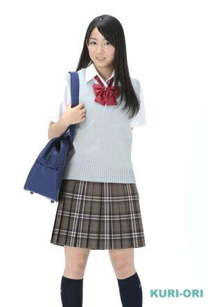 KURI-ORI★クリオリW75丈54サマースカートSKR201ライトブラウン×ピンク