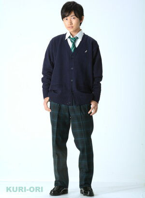 KURI-ORI★クリオリKRB36S2W91,95スリーシーズンスラックスダークグリーン×水色スリムシルエットツータック【送料込】