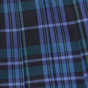 KURI-ORI★クリオリ【日本製】W60丈42スリーシーズンスカートWKR389紺・ブルー・グリーン大柄制服プリーツスカート