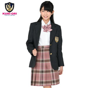 KURI-ORI★クリオリNIKKE素材・本格制服仕様・女子用ジャケットブレザーKRJKO-GグレーふくよかサイズBL