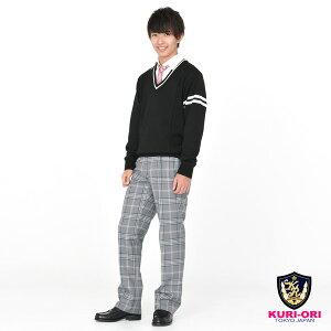 KURI-ORI[クリオリ]制服スクールネクタイKRN105ピンククレスト柄男女兼用【日本製】