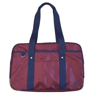 schoolbag 2K30018 , grape, navy crown embroidery