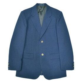 【展示品処分】KURI-ORI本格制服仕様男子用ジャケット ブレザーウォッシャブル明るい紺無地(インクブルー)エンブレムなしサイズ LL【日本製】クリオリ【セール】制服上着スクールブレザー
