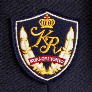 【送料無料】【日本製】KURI-ORI★クリオリNIKKE新素材MIRAIZ使用・ウォッシャブル軽量ストレッチ男子用ジャケットKRBJK-MT-N1紺エンブレム付き洗える制服ブレザーサイズS・M・L・LL
