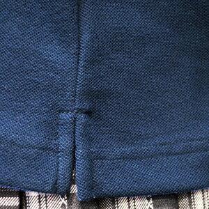 KURI-ORIクリオリ【半袖ポロシャツ・白・紺】サイズS・M・L・LL【通学に!】ワンポイント鹿の子ポロシャツ【男女兼用】HKRPL1吸汗速乾・抗ピル東洋紡タフスナッグ使用トラッドなデザインの高機能ポロシャツ日本製