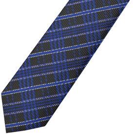 KURI-ORI[クリオリ]制服 スクールネクタイKRN184ダークチェック ブルー 男女兼用【日本製】【WEB限定】