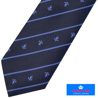 KURI-ORI school necktie KRN63 dark blue