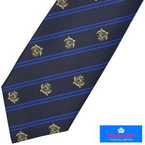 KURI-ORI[クリオリ]制服スクールネクタイKRN67クレスト紺金刺繍男女兼用【日本製】