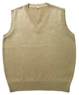 KURI-ORI Seifuku KC905C cotton-mixed vest cafe au lait beige