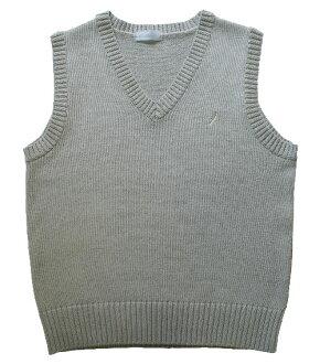 KURI-ORI Seifuku KC905 cotton-mixed vest gray