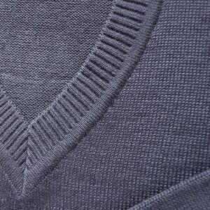 【日本製】男女兼用ウール混セーターVY900N紺無地プレーンなスクールセーター