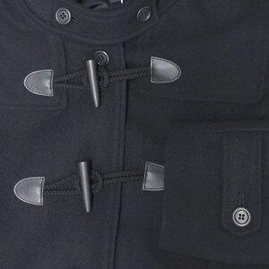 TOMBOWトンボ学生服女子用ダッフルコート黒18B0007クールなイメージの台襟付きスリムデザイン【暖か裏地】帝人エアロカプセル使用サイズS・M・L・LL