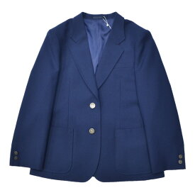 【セレモニーにおすすめ!】914-2JKT 女子用制服ブレザー定番制服スタイル青紺無地ジャケット NIKKEウール100%M〜LLまで各種!ふくよかBサイズ、BMあります明るいブルー!【日本製】【通学に】