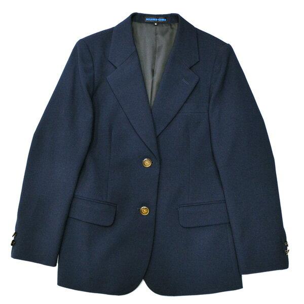【展示品処分】KURI-ORI本格制服仕様・女子用ジャケット 紺ブレザーシンプルなワッペンなしふくよかサイズBM・BLL・BEL【大きいサイズ】【日本製】