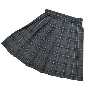KURI-ORI Seifuku S908-2SKT75-87 W75~87cm, L47~53cm gray check summer skirt