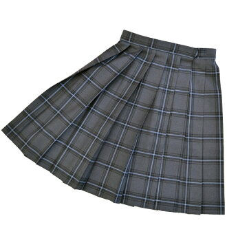 KURI-ORI Seifuku W908-2SKT60-72 W60~72cm, L44~56cm gray check pattern for winter