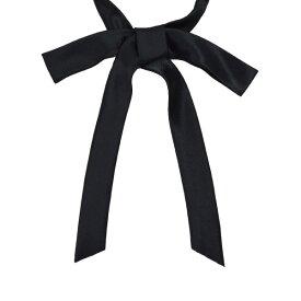 結びパータイ 黒 1240-115ワンタッチで付けられる 無地 成形リボンタイ