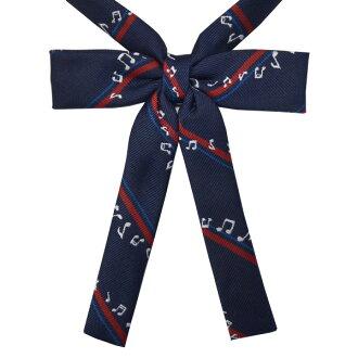 KURI-ORI原创学院风细微丝带 KRRHR23 藏青色 音符花樣