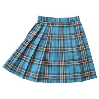 KR378 腰圍60・63・66・69・72cm 裙子長42cm 翠藍色 春・鞦・鼕季款 KURI-ORI的原創學院風百褶裙