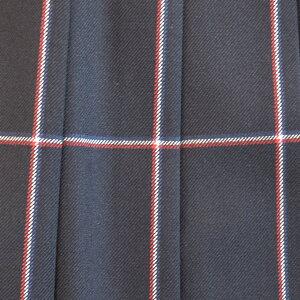 KURI-ORI★クリオリ【日本製】【web限定カラー】W66丈42スリーシーズンスカートSCRT38NSK紺×赤・白格子制服プリーツスカート