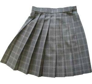 KURI-ORI★クリオリW60サマースカートSKR113グレーグレンチェックピンクライン