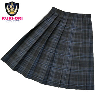KURI-ORI WKR11 W60・63・66・69・72cm L54・57cm gray check seifuku skirt for winter