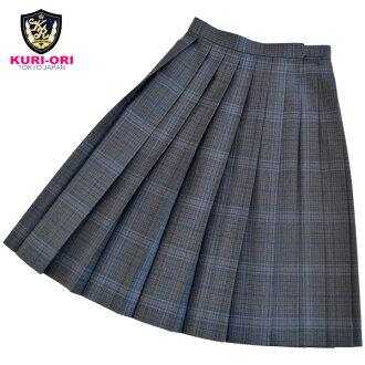 KURI-ORI Seihuku skirt W60,63,66,69,72 L54,57 WKR415 glen check, blue