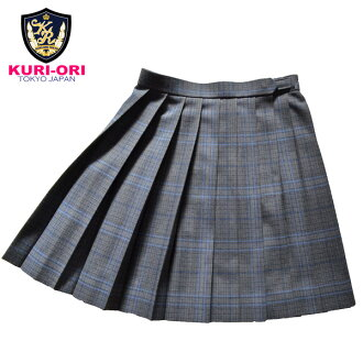 KURI-ORI Seihuku skirt W70,75,80 L48 WKR415 glen check, blue
