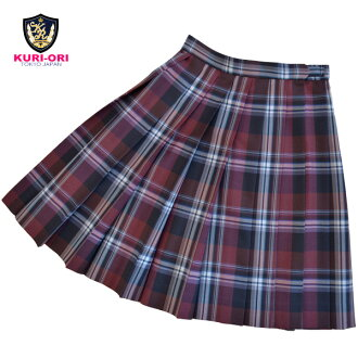 KURI-ORI Seifuku WKR426 W60・63・66cm L48cm large check pattern wine red