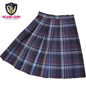 WKR428 腰围75・80・85cm 裙子长48cm 葡萄色 春・秋・冬季款 KURI-ORI的原创学院风百褶裙