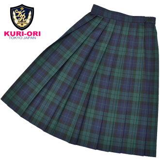 KURI-ORI Seifuku WKR413 W60・63・66・69・72cm L 54.57cm black watch dark blue, green, black