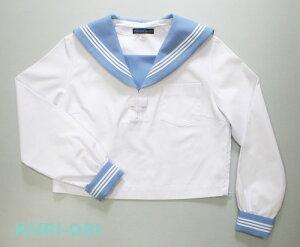 【KURI-ORI】クリオリ白セーラートップス・サックス襟長袖