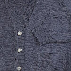 セーラー服用カーディガン紺【日本製】ウール混カーディガン・10ゲージMセーラーの上に着るデザインのスクールカーディガン