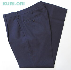 KRB1Sオリジナルジャケットとお対の紺無地スラックススリーシーズンワンタックスリムウエスト67〜88