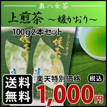 【メール便送料無料】上煎茶(媛かおり)100g2本セット