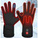 電熱グローブ 充電式 ヒートグローブ インナーグローブ 手袋ライナー 温度調節可能 防寒 日本語説明つき T001 …