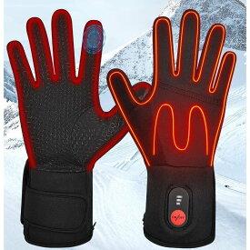 電熱グローブ 充電式 ヒートグローブ インナーグローブ 手袋ライナー 温度調節可能 防寒 日本語説明つき T001 SW04 男女兼用 ヒーターグローブ ハンドウォーマー