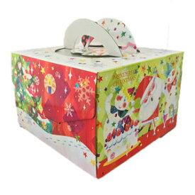 クリスマスケーキ用 箱 ダンスサンタ150H 6号