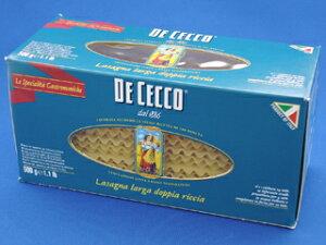 DE CECCO NO.1ラザーニャ 【製菓材料 製パン材料 お菓子材料 お菓子レシピ】 業務用