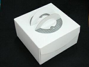 手提げデコ ホワイト #6(18cm) 1枚 デコレーションケーキ ケーキ用 箱 ボックス ラッピング 業務用