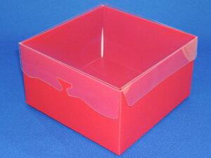 プチギフト レッド 1個 洋菓子 箱 ボックス 激安 ラッピング ラッピング用品 おしゃれ かわいい バレンタイン 手作り キット 友チョコ 義理チョコ ファミチョコ 業務用