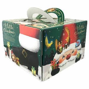 クリスマスケーキ用 箱 リトルクリスマス 150H 6号